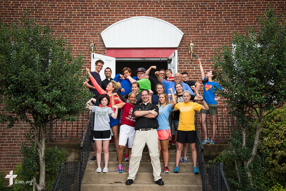 A group photograph from the 2014 Youth Corps pilot project at Shepherd of the City Lutheran Church on Wednesday, August 13, 2014, in Philadelphia, Pa. LCMS Communications/Erik M. Lunsford