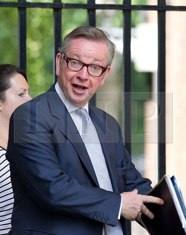 © Licensed to London News Pictures. 16/07/2013. London, UK. As the House of Commons prepares for its summer recess British Education Secretary, Michael Gove, is seen on Downing Street in London today (16/07/2013). Photo credit: Matt Cetti-Roberts/LNP