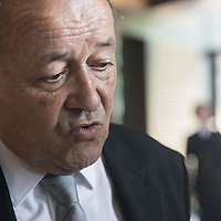 French Defence Minister Jean-Yves Le Drian Visits Lyon Mont Verdun