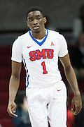 DALLAS, TX - DECEMBER 17: Shake Milton #1 of the SMU Mustangs looks on against the Hampton Pirates on December 17, 2015 at Moody Coliseum in Dallas, Texas.  (Photo by Cooper Neill/Getty Images) *** Local Caption *** Shake Milton
