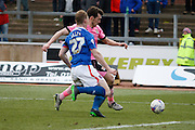 Carlisle United Defender Mark Ellis making a strong tackle during the Sky Bet League 2 match between Carlisle United and Northampton Town at Brunton Park, Carlisle, England on 5 March 2016. Photo by Craig McAllister.