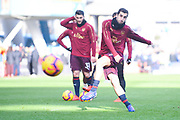 Henrikh Mkhitaryan of Arsenal (7) warming up during the Premier League match between Huddersfield Town and Arsenal at the John Smiths Stadium, Huddersfield, England on 9 February 2019.
