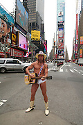 Naked Cowboy in Times Square.