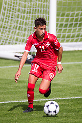 WREXHAM, WALES - Thursday, August 15, 2019: Malta's Ensell Attard during the UEFA Under-15's Development Tournament match between Cyprus and Malta at Colliers Park. (Pic by Paul Greenwood/Propaganda)