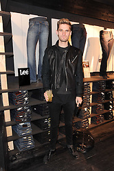 ANDERS THOMSON at the Lee store re-launch party held at 13-14 Carnaby Street, London on 31st March 2010.