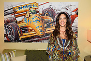 Bianca Senna (niece of Ayrton Senna and director of the Senna Foundation) in front of a painting of her uncle before the practice session for the 2017 Monaco Formula One Grand Prix at the Circuit de Monaco, Monte Carlo<br /> Picture by EXPA Pictures/Focus Images Ltd 07814482222<br /> 25/05/2017<br /> *** UK &amp; IRELAND ONLY ***<br /> <br /> EXPA-EIB-170525-0031.jpg