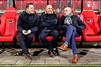 (L-R) *Frank Zaal* of AZ Alkmaar, assistant trainer *Arne Slot* of AZ Alkmaar, coach *Jurgen Streppel* of SC Heerenveen