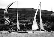 The Round Ireland Yacht Race is run every second year, starting in 1980. The course, starting from Wicklow Sailing Club, is simple: 'Leave Ireland and all its islands excluding Rockall to starboard.' The eventual winner was the yacht Lightning, in a time of just under 102 hours.<br />