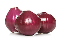 Red Onions on white bacground
