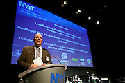 David Pospisil, CEM, Manager of Commercial & Industrial Energy Efficiency Programs of ConEdison delivers welcome remarks at Manhattan Chamber of Commerce's Transportation Transformation Global Summit at NYIT in New York on April 26, 2012.