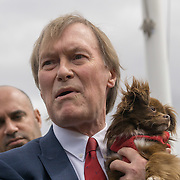 London,England,UK : 24th May 2016 : Speaker MP David Amess<br />  at the Parliament Puppy Farming Protest - End The Third Party Sale Of Puppies! in Parliament Square, London. Photo by See Li