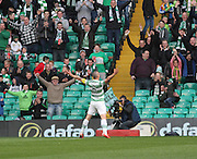 Celtic's Scott Brown celebrates his goal -  Celtic v Dundee - SPFL Premiership at Celtic Park<br /> <br /> <br />  - © David Young - www.davidyoungphoto.co.uk - email: davidyoungphoto@gmail.com