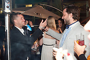 TYRONE WOOD; DEREK BLASBERG, Dinner and party  to celebrate the launch of the new Cavalli Store at the Battersea Power station. London. 17 September 2011. <br /> <br />  , -DO NOT ARCHIVE-© Copyright Photograph by Dafydd Jones. 248 Clapham Rd. London SW9 0PZ. Tel 0207 820 0771. www.dafjones.com.