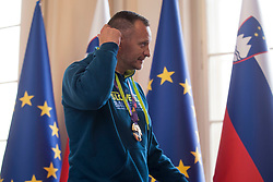 "Rado Trifunovic, head coach during award ceremony ""Zlati red za zasluge"" for Basketball association of Slovenia on the day of statehood in the presidential palace, on June 25, 2018 in Ljubljana, Slovenia. Photo by Urban Urbanc / Sportida"