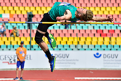 Lee Jordan, IRE competing in the T47 High Jump at the Berlin 2018 World Para Athletics European Championships