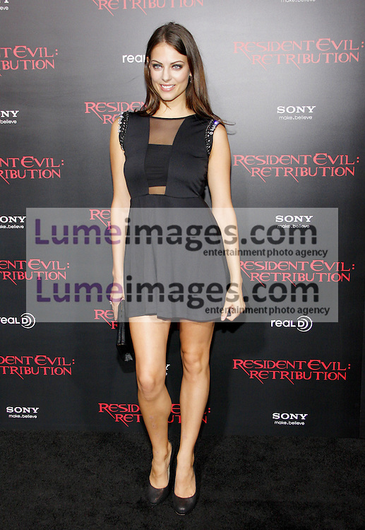 LOS ANGELES, CA - SEPTEMBER 12, 2012: Julia Voth at the Los Angeles premiere of 'Resident Evil: Retribution' held at the Regal Cinemas L.A. Live in Los Angeles, USA on September 12, 2012.