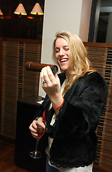 LAURA LOPES at a St.Valentine's dinner hosted by Ruinart champagne at Tom Aikens Restaurant, Elystan Street, London on 6th February 2007.<br />