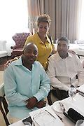 l to r: Will Packer Dolly Turner and Keith Clickscales at The ABFF Luncheon Hosted by HSBC and Rush Philanthropic Arts held at The Delano in Miami Beach on June 27, 2009..The American Black Film Festival is an industry retreat and competitve marketplace for films and by and about people of color.