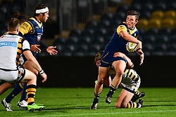 Will Butler of Worcester Cavaliers is tackled by Connor Eastgate of Wasps - Mandatory by-line: Craig Thomas/JMP - 23/10/2017 - RUGBY - Sixways Stadium - Worcester, England - Worcester Cavaliers v Wasps - Aviva A League