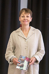 © Licensed to London News Pictures. 2/6/2017 SHEFFIELD   , UK.  <br /> The Green Party at the  Broomhall Centre in Sheffield today (Friday 2nd June 2017) for their general election campaign. The party's co-leader Caroline Lucas (pictured)  and former leader, Natalie Bennett spoke defending migrants' contribution to Britain and pledge their support for continued free movement within Europe. Caroline Lucas spoke yesterday to condemn Donald Trump's decision to pull out of the Paris climate agreement.<br />   <br /> Photo credit: CHRIS BULL/LNP