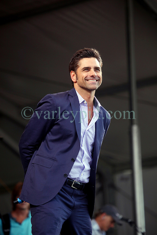 27 April 2012. New Orleans, Louisiana,  USA. .New Orleans Jazz and Heritage Festival. .The Beach Boys take to the stage to kick off their 50th anniversary tour. Television actor John Stamos introduces the band..Photo; Charlie Varley.