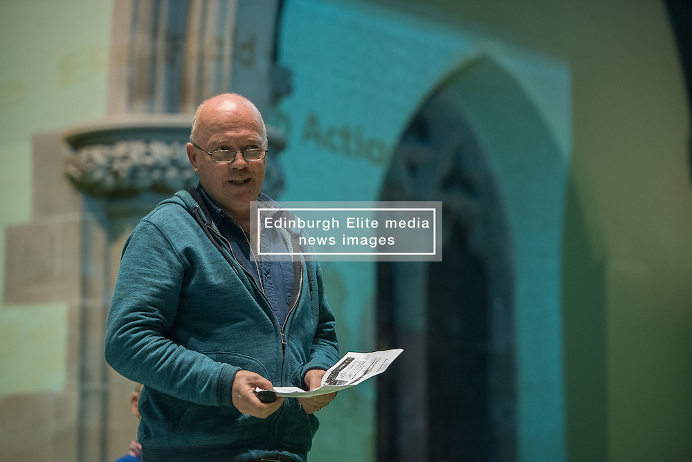 The Action Porty group leading the campaign for the community right to buy of Bellfield Church and Halls in Portobello held an open meeting last night in Portobello and Joppa Parish Church. Pictured Justin Kenrick from Action Porty<br /> © Jon Davey/ EEm