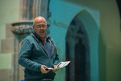 The Action Porty group leading the campaign for the community right to buy of Bellfield Church and Halls in Portobello held an open meeting last night in Portobello and Joppa Parish Church. Pictured Justin Kenrick from Action Porty<br /> &copy; Jon Davey/ EEm