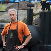 "June 9, 2012 - Vernon, NJ : Scott Reid of ""Texas Smoke BBQ"" during the 3rd annual ""Rock, Ribs & Ridges"" music and food festival in Vernon, NJ on Saturday. CREDIT: Karsten Moran for The New York Times"