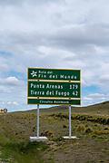 Ruta del Fin del Mundo, southern Chile, near Punta Arenas.