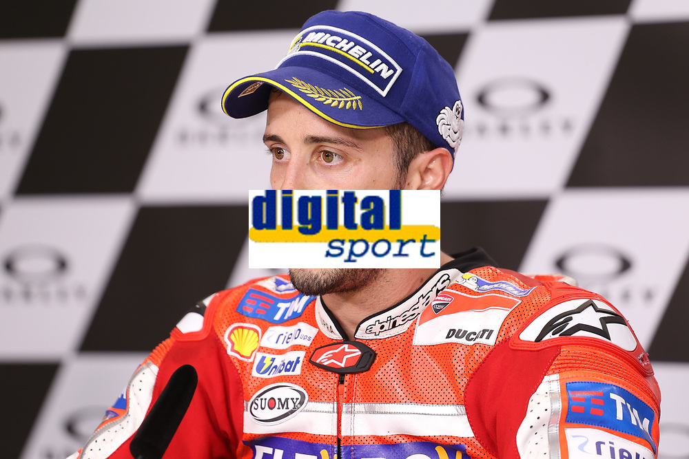 Andrea Dovizioso of Italy and Ducati Team winner during the press conference after MotoGP Italy Grand Prix 2017 at Autodromo del Mugello, Florence, Italy on 4th June 2017. Photo by Danilo D'Auria.<br /> <br /> Danilo D'Auria/UK Sports Pics Ltd/Alterphotos