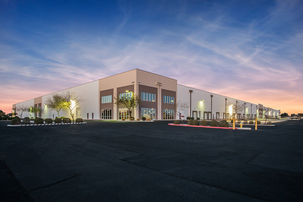Phoenix, arizona commercial real estate photographer sunset