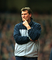 Glenn Hoddle (Tottenham Manager). West Ham United v Tottenham Hotspur. 1/3/2003. Credit : Colorsport/Andrew Cowie.