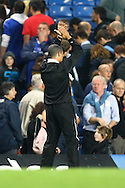 London - Wednesday September 22nd 2010: Newcastle Manager Chris Hughton applauds the traveling support at the end of the Carling Cup 3rd Round match at Stamford Bridge, London. (Pic by Paul Chesterton/Focus Images)
