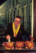 SPAIN, CASTILE, SEGOVIA Meson Candido, roast suckling pig