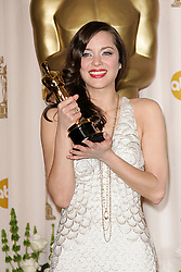 Feb 24, 2008 - Hollywood, California, USA - Actress MARION COTILLARD with the award for Best Actress at the 80th Annual Academy Awards held at the Kodak Theatre in Hollywood. (Credit Image: © Lisa O'Connor/ZUMA Press)