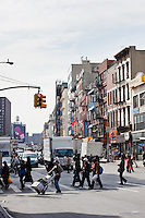 bowery area in New York City in October 2008