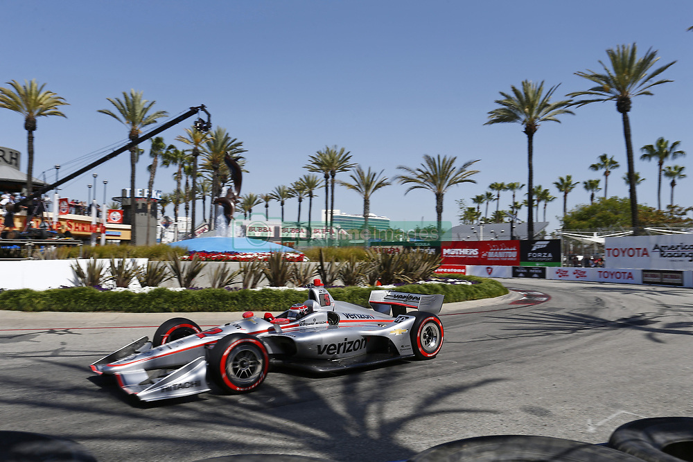 April 13, 2018 - Long Beach, California, United States of America - April 13, 2018 - Long Beach, California, USA: Will Power (12) takes to the track to practice for the Toyota Grand Prix of Long Beach at Streets of Long Beach in Long Beach, California. (Credit Image: © Justin R. Noe Asp Inc/ASP via ZUMA Wire)