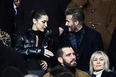 Bella Hadid And David Beckham Watch PSG v Real Madrid - 6 March 2018