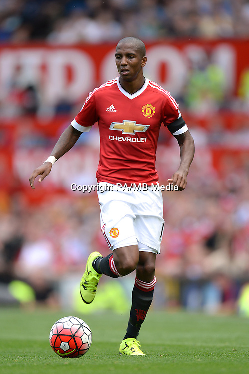 """Manchester United's Ashley Young during the Barclays Premier League match at Old Trafford, Manchester. PRESS ASSOCIATION Photo. Picture date: Saturday August 8, 2015. See PA story SOCCER Man Utd. Photo credit should read: Martin Rickett/PA Wire. EDITORIAL USE ONLY No use with unauthorised audio, video, data, fixture lists, club/league logos or """"live"""" services. Online in-match use limited to 45 images, no video emulation. No use in betting, games or single club/league/player publications."""