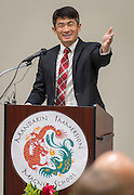 ChaoLin Chang comments during the dedication and ribbon cutting for the Mandarin Immersion Magnet School, October 24, 2016.