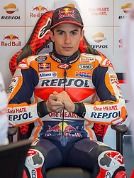 October 20, 2017 - Melbourne, Victoria, Australia - Spanish rider Marc Marquez (#93) of Repsol Honda Team in his garage before the first free practice session of the MotoGP class at the 2017 Australian MotoGP at Phillip Island, Australia. (Credit Image: © Theo Karanikos via ZUMA Wire)