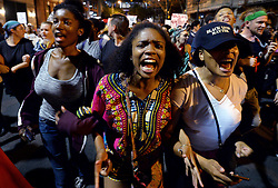 "Protesters chant ""Black Lives Matter"" as they march throughout the city of Charlotte, NC, USA, on Friday, September 23, 2016, as demonstrations continue following the shooting death of Keith Scott by police earlier in the week. Photo by Jeff Siner/Charlotte Observer/TNS/ABACAPRESS.COM"