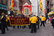 Dragon and Lion dance festival in Chinatown, New York City.