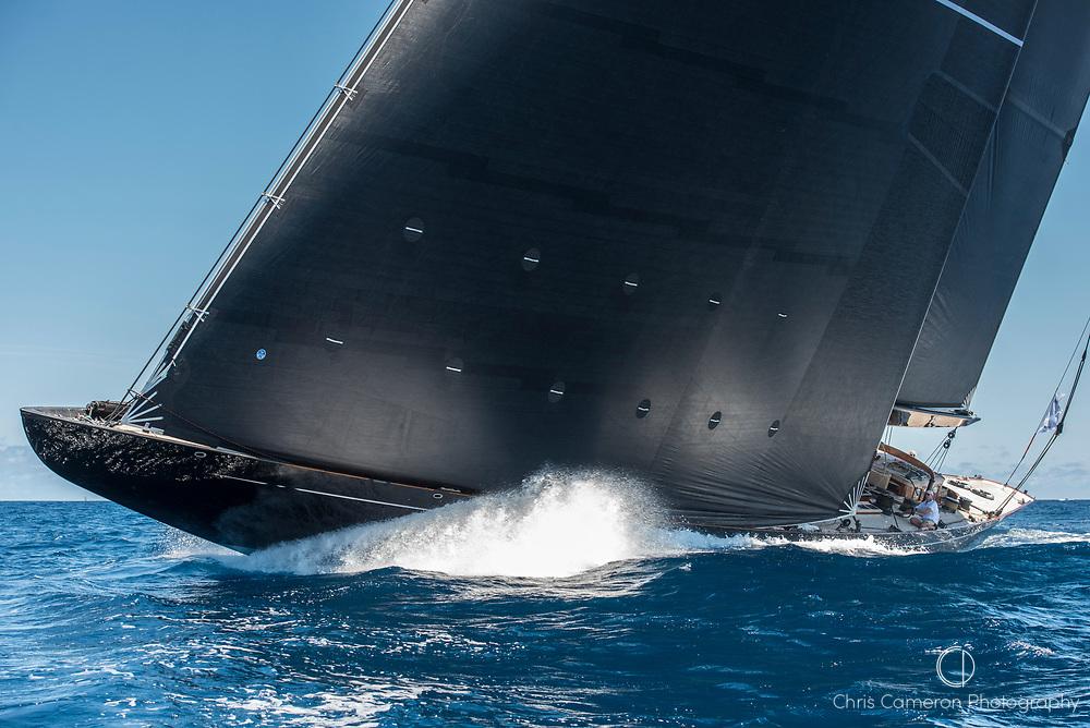 Bermuda, 14th June 2017. America's Cup Superyacht regatta. J Class race Two. Lion Heart JH1