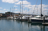 Boats moored at the marina in Dun Laoghaire Dublin Ireland