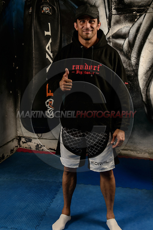 LONDON, ENGLAND, SEPTEMBER 13, 2013: Mixed martial arts athlete and celebrity Alex Reid was in attendance during a seminar by Anderson Silva inside London Fight Factory in London, England on September 13, 2013 © Martin McNeil