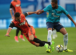 August 3, 2017 - Saint Petersburg, Russia - Roei Gordana (L) of FC Bnei Yehuda and Hernani of FC Zenit Saint Petersburg vie for the ball during the UEFA Europa League match, third qualifying round, 2nd leg between FC Zenit St. Petersburg and FC Bnei Yehuda at Saint Petersburg Stadium on August 03, 2017 in St. Petersburg, Russia. (Credit Image: © Igor Russak/NurPhoto via ZUMA Press)