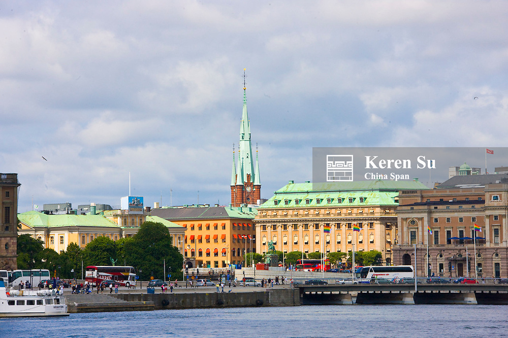 Buildings along the waterfront, Stockholm, Sweden