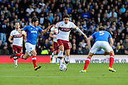 Alex Gilliead (17) of Bradford City on the attack during the EFL Sky Bet League 1 match between Portsmouth and Bradford City at Fratton Park, Portsmouth, England on 28 October 2017. Photo by Graham Hunt.