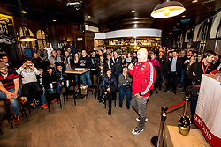 13.01.2018, Österreich Haus, Porec, CRO, EHF EM, Herren, Fantalk mit Trainer Patrekur Johannesson (AUT), Gruppe B, im Bild Trainer Patrekur Johannesson (AUT) vor Fans // during a Fantalk with the Austrian head coach Patrekur Johannesson during the EHF men's Handball European Championship at the Österreich Haus in Porec, Croatia on 2018/01/13. EXPA Pictures © 2018, PhotoCredit: EXPA/ Sebastian Pucher